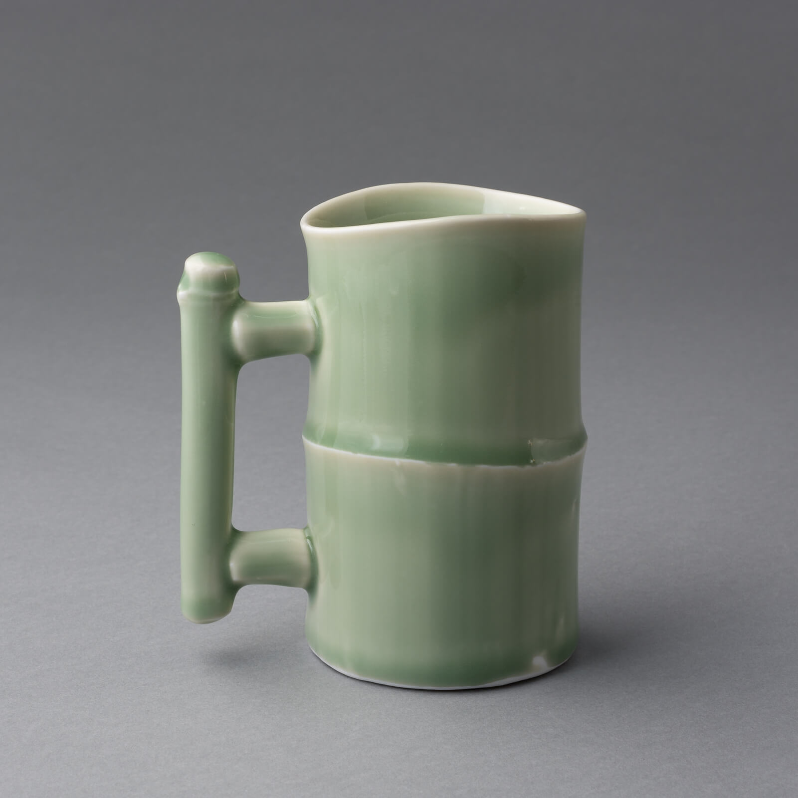 Bamboo cup, Porcelain
