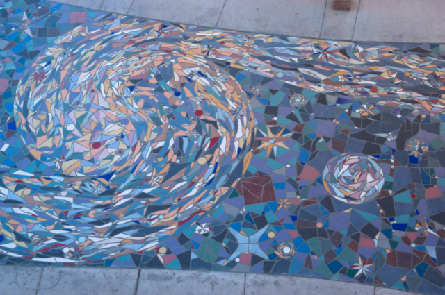Earth and Sun Tile Mosaic La Placita Park, Las Cruces