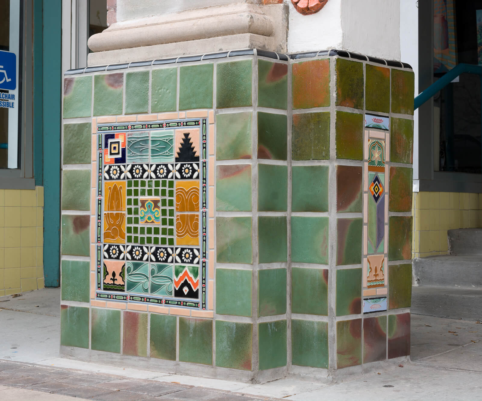 Rio Grande Theatre tile restoration project, south column