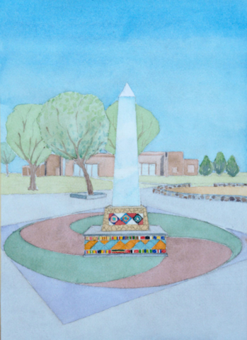 Watercolor concept of Veterans Park